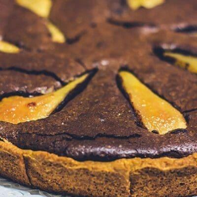 Pear and chocolate tart recipe