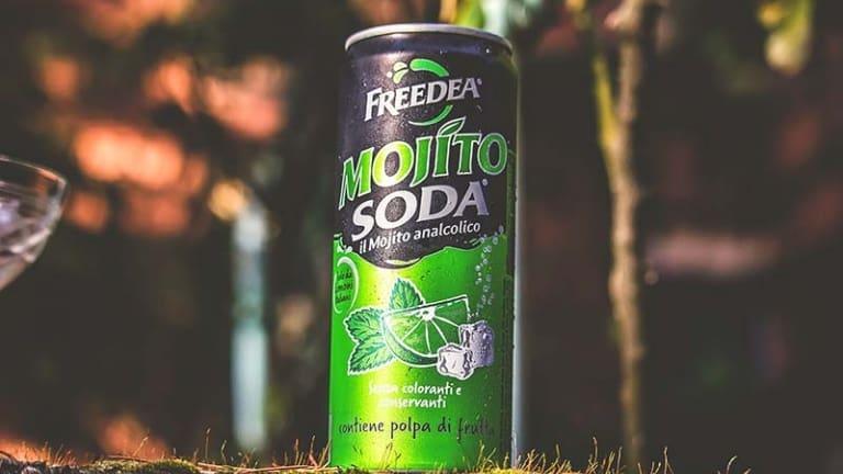 Mojito Soda Lattina Ml.330, Mojito analcolico, recensione commento, junk drinks