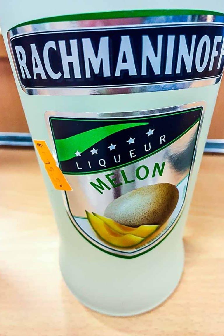 Liquore al melone Rachmaninoff, vodka, recensione commento e prezzo