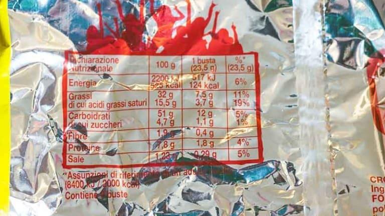 Fonzies valori nutrizionali, cibi salati pieni di grassi saturi che fanno male