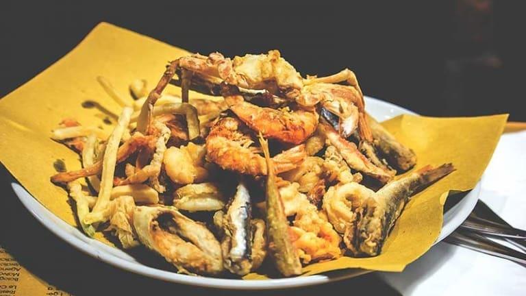 Gran fritto misto dell'Osteria del Gran Fritto Cesenatico, ricette di pesce