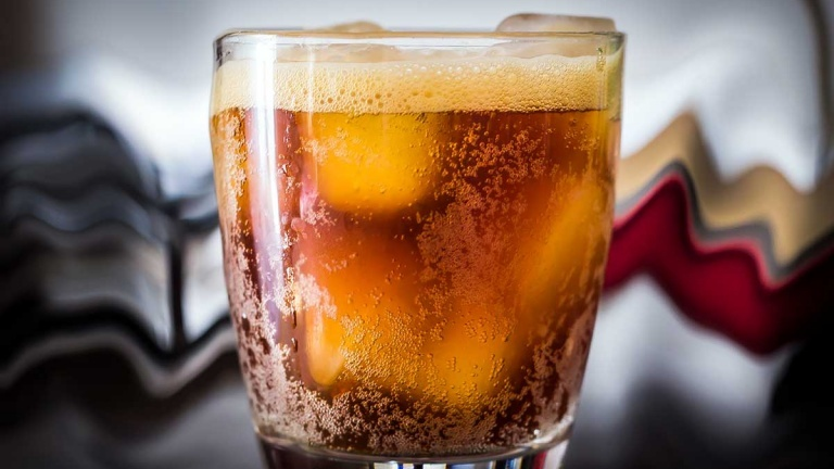 Chucky cocktail, new cocktails 2018 with rye whiskey, chinotto tamarind & china