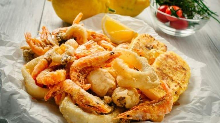 Bombino Bianco-Pagadebit abbinamenti, frittura di pesce per vino bianco